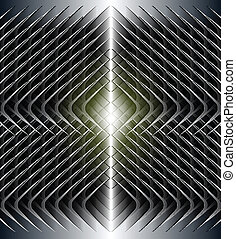 Abstract background dark metallic symmetrical pattern.