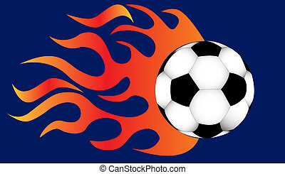 quickly flying ball fire for him - illustration quickly...