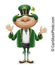 saint patrick elf leprechaun isolated on white background