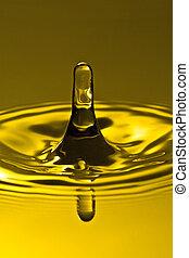 splash of golden clean water