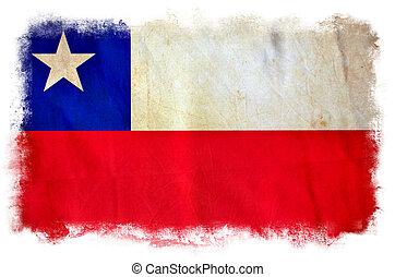 Chile grunge flag