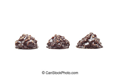 chocolate candies with coconut