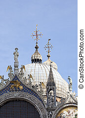 St. Marco cathedral, Venice - View of St. Marco cathedral,...