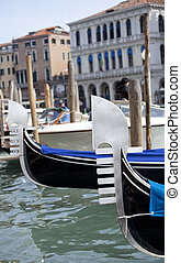 Gondole in Venice - Photo of a Gondole in Venice