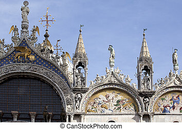 St Marco cathedral, Venice - View of St Marco cathedral,...