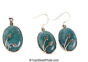 Aquamarine Jewelery - A jewelery set made of aquamarine...