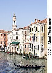 Gondola in Venice - View of a gondola in Venice
