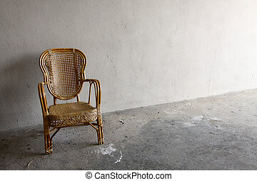 Lonely chair background