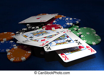 Texas hold-em 4 kings hand