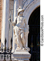 Statue of Arsenal, Venice - Statue on the portal of Arsenal,...