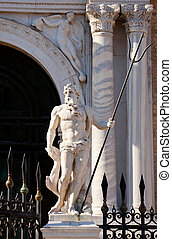 Statue of Arsenal, Venice - Neptune - Statue of Arsenal,...
