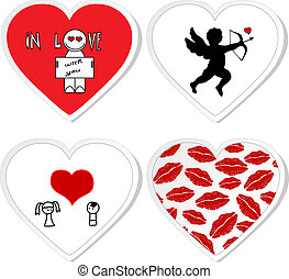 Love stickers - set 1