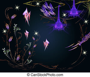 Miraculous, fairyland - Fairy-tale fairies fly around flower...