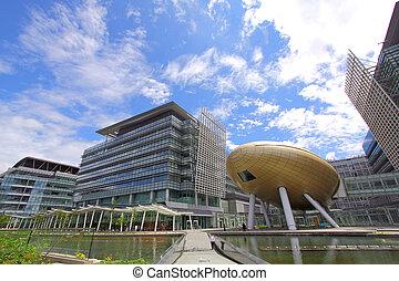 Modern science buildings in Hong Kong