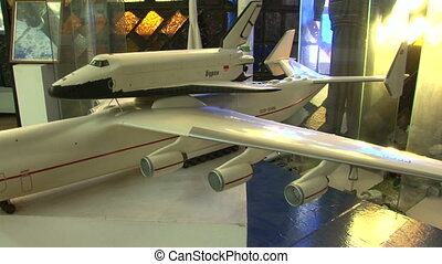 The model of the space shuttle Buran