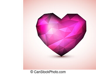 Vector Purple Diamond jewel heart
