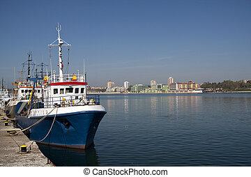 Nesebar Port, photo taken in Bulgaria