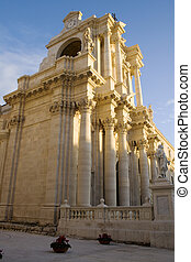 Syracuse cathedral - View of Syracuse cathedral, Sicily