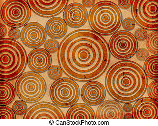 old paper background with circles like tree rings