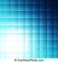 blue squares background - abstract blue squares shining over...