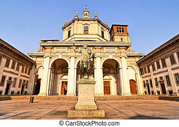 Statue of Emperor Constantine, Milan - Italy