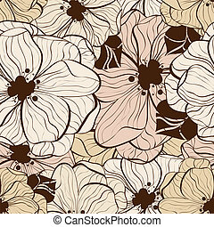 Flower seamless pattern - Vector flower seamless pattern