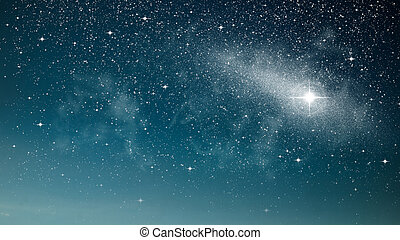 Bright star in space