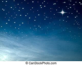 Starry nignt - Starry night many bright star in blue sky