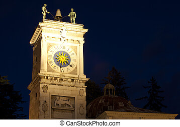 Bell tower in Piazza Libertà, Udine - Italy