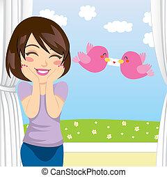Love Letter Surprise - Beautiful woman gets happy surprise...