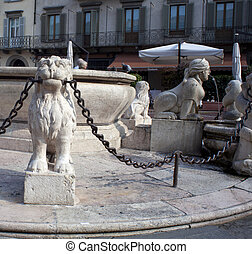 The Contarini fountain, Bergamo Alta - The Contarini...
