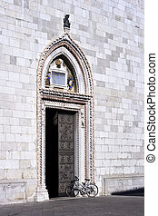 Portal of the church, Cividale del Friuli - Italy