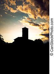 Silhouette of Cividale del Friuli, Italy