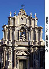 Cathedral, Catania - Facade of the cathedral of Catania