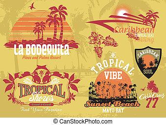 tropicais, coco