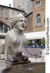 The Contarini fountain, Bergamo Alta - The Contarini...