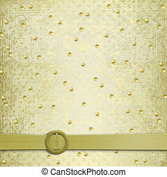 Abstract ancient background in scrapbooking style with gold ornament