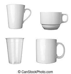 white coffee cup beverage drink food - collection of various...