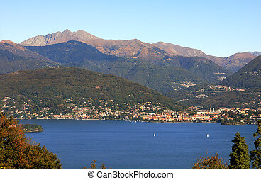 View on Lake Maggiore in Italy.
