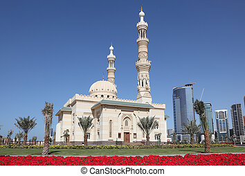 Mosque in Sharjah City, United Arab Emirates