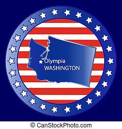 Washington state seal stamp usa