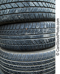 Texture of old three tire