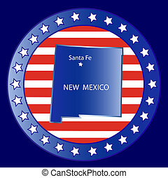 New mexico  state seal stamp usa