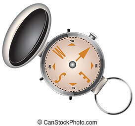 Compass with cover - Navigation equipment - Compass with...