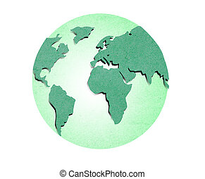 isolate recycled paper earth on white background - isolate...