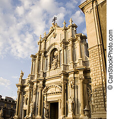 Catania cathedral - View of Catania cathedral, Italy