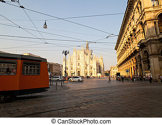 Tram in Milan - Tram in the city of Milan