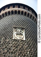Castello Sforzesco tower, Milan - Italy