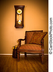 Clock and Chair