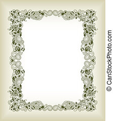 Abstract Asia Floral Frame